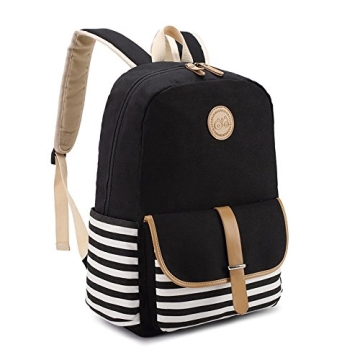 bluboon schulrucks cke rucksack damen m dchen vintage schule rucks cke mit moderner streifen. Black Bedroom Furniture Sets. Home Design Ideas