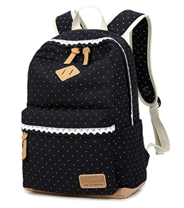 5 all fashion m dchen schulrucksack damen canvas rucksack teenager baumwollstoff schultasche. Black Bedroom Furniture Sets. Home Design Ideas